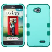 Insten Tuff Hard Dual Layer Rubberized Case For LG Optimus Exceed 2 VS450PP Verizon/Optimus L70 MS323/Realm LS620,Teal (2050471)