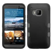 Insten Hard Dual Layer Silicone Cover Case For HTC One M9 - Black (2091998)
