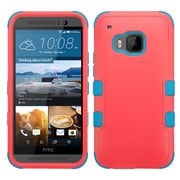 Insten Hard Dual Layer Silicone Case For HTC One M9 - Red/Blue (2092001)