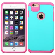 """Insten Slim Hybrid Dual Layer Shockproof Case for iPhone 6s Plus / 6 Plus 5.5"""" - Teal/Hot Pink (2162329)"""