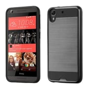 Insten Hard Hybrid Rubber Coated Silicone Case For HTC Desire 626/626s - Black (2178171)