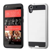 Insten Hard Hybrid Silicone Case For HTC Desire 626/626s - Silver/Black (2178172)