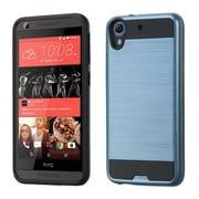 Insten Hard Hybrid Rubberized Silicone Cover Case For HTC Desire 626/626s - Blue/Black (2178173)