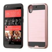Insten Dual Layer Hybrid Shockproof Hard PC/Silicone Case For HTC Desire 626/626s - Rose Gold/Black (2178174)