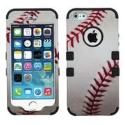 Insten Tuff Baseball Hard Hybrid Silicone Case For Apple iPhone SE 5S 5 - White/Red (1551828)