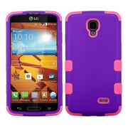 Insten Rubberized Grape/Electric Pink TUFF Hybrid Hard Shockproof Phone Cover Case For LG Volt LS740 (1934239)