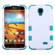 Insten Ivory White/Tropical Teal TUFF Hybrid Rugged Hard Shockproof Phone Case For LG Volt LS740 (1934240)