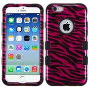 Insten Zebra Hard Dual Layer Rubber Coated Silicone Cover Case For Apple iPhone 6 - Red/Black (2011255)
