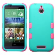 Insten TUFF Hybrid Hard Shockproof Silicone Dual Layer Case Cover For HTC Desire 510,Teal Green/Electric Pink (2026162)