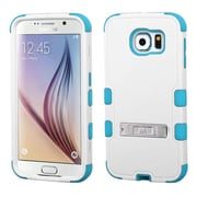 Insten Hard Dual Layer Silicone Cover Case w/stand For Samsung Galaxy S6 - White/Blue (2096537)