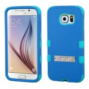Insten Hard Dual Layer Rubber Silicone Case w/stand For Samsung Galaxy S6 - Blue/Teal Green (2099563)