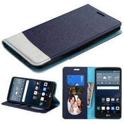 Insten Book-Style Leather Fabric Cover Case w/stand/card holder/Photo Display For LG G Stylo - Black/White (2119518)