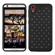 Insten Hard Hybrid Rugged Shockproof Rubber Silicone Cover Case w/Diamond For HTC Desire 626/626s - Black (2136641)