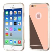 Insten Ultra Thin Glossy Mirror TRANSPARENT CLEAR TPU Cover for Apple iPhone 6 6S - ROSE GOLD (2173012)