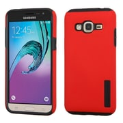 Insten Hard Hybrid Rubberized Silicone Cover Case For Samsung Galaxy J3 - Red/Black (2195520)
