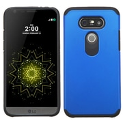 Insten Hard Hybrid Rubber Coated Silicone Case For LG G5 - Blue/Black (2229081)
