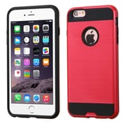 Insten Hard Hybrid Rubberized Silicone Case For Apple iPhone 6s Plus / 6 Plus - Hot Pink/Black (2229998)