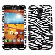 Insten Zebra Skin/Black TUFF Hybrid Rugged Hard Shockproof Snap-On Phone Case For LG Volt LS740 (1934215)
