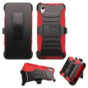 Insten Hard Dual Layer Plastic Silicone Case w/Holster For HTC Desire 626/626s - Black/Red (2136729)