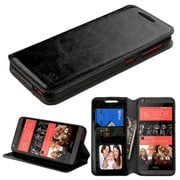 Insten Folio Leather Fabric Case w/stand/card holder/Photo Display For HTC Desire 626/626s - Black (2138376)
