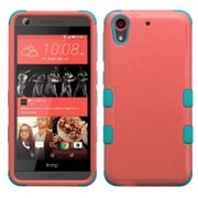 Insten Tuff Hard Dual Layer Rubberized Silicone Cover Case For HTC Desire 626/626s - Red/Teal (2140967)