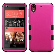 Insten Tuff Hard Dual Layer Rubberized Silicone Cover Case For HTC Desire 626/626s - Hot Pink/Black (2161969)