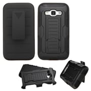 Insten Car Armor Hard Dual Layer Plastic Silicone Cover Case w/Holster For Samsung Galaxy Core Prime - Black (2162741)