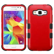 Insten Tuff Hard Dual Layer Rubber Coated Silicone Case For Samsung Galaxy Core Prime - Red/Black (2172480)