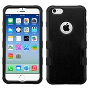 Insten Tuff Hard Dual Layer Silicone Case For Apple iPhone 6/6s - Black (2178081)