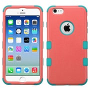 Insten Tuff Hard Hybrid Rubber Coated Silicone Case For Apple iPhone 6/6s - Hot Pink/Teal (2178086)