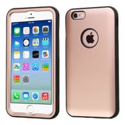 Insten 3-Layer Hybrid Shockproof Hard PC/Silicone Case Cover For iPhone 6/6s - Rose Gold/Black (2181386)