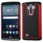 Insten Hard Hybrid Rubberized Silicone Cover Case For LG G Stylo - Black/Red (2212084)
