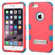 "Insten Hard Dual Layer Rubber Coated Silicone Case w/stand For Apple iPhone 6 Plus 5.5"" - Red/Blue (1987368)"