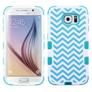 Insten Tuff Wave Hard Dual Layer Silicone Cover Case For Samsung Galaxy S6 - Blue/White (2099554)