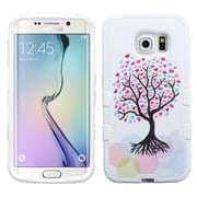 Insten Tuff Love Tree Hard Hybrid Rugged Shockproof Silicone Cover Case For Samsung Galaxy S6 Edge - Pink/White (2102112)