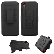 Insten Car Armor Hard Dual Layer Plastic Silicone Case w/Holster For HTC Desire 626/626s - Black (2138429)