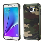 Insten Camouflage Hard Hybrid Rugged Shockproof Rubber Silicone Case For Samsung Galaxy Note 5 - Green/Black (2147975)