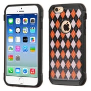 Insten Argyle Hard Dual Layer Silicone Case For Apple iPhone 6/6s - Red/Black (2162266)