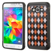 Insten Argyle Hard Hybrid Rugged Shockproof Rubber Silicone Cover Case For Samsung Galaxy Grand Prime - Colorful (2166543)