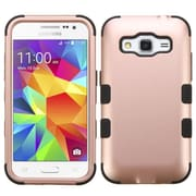 Insten Tuff Dual Layer Hybrid Shockproof Hard PC/Silicone Case For Samsung Galaxy Core Prime - Rose Gold/Black (2178103)