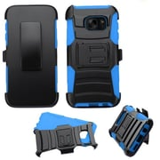 Insten Hard Dual Layer Plastic Silicone Case w/Holster For Samsung Galaxy S7 - Black/Blue (2195559)