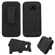 Insten Car Armor Hard Hybrid Plastic Silicone Cover Case w/Holster For Samsung Galaxy S7 - Black (2195639)