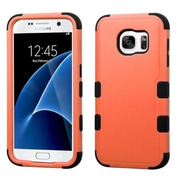 Insten Tuff Hard Dual Layer Rubber Silicone Cover Case For Samsung Galaxy S7 - Orange/Black (2208033)
