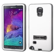Insten Hard Hybrid Rugged Shockproof Cover Case with Stand For Samsung Galaxy Note 4 - White/Gray (2011559)