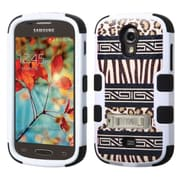 Insten Zebra Skin-Leopard Skin/Black TUFF Hybrid Hard Shockproof Silicone Case Stand For Samsung Galaxy Light SGH-T399 (2026269)
