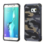 Insten Hard Dual Layer Rubberized Silicone Case For Samsung Galaxy S6 Edge Plus - Blue/Black (2162296)
