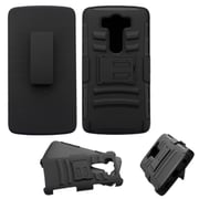 Insten Hard Hybrid Plastic Silicone Cover Case w/Holster For LG V10 - Black (2177281)