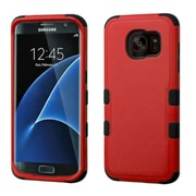 Insten Tuff Hard Dual Layer Rubberized Silicone Case For Samsung Galaxy S7 Edge - Red/Black (2205035)