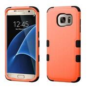 Insten Tuff Hard Dual Layer Rubberized Silicone Cover Case For Samsung Galaxy S7 Edge - Orange/Black (2208030)