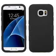 Insten Tuff Hard Hybrid Rubber Coated Silicone Case For Samsung Galaxy S7 - Black (2208105)